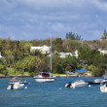 Bermuda Waterfront Pleasure Craft — Stock Photo