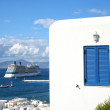 Stock Photo: Mykonos Cruise Ship