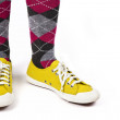 Stock Photo: Yellow Canvas Sneakers