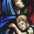 Mother and Child Stained Glass — Stock Photo