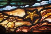 Seashore Detail Stained Glass — Stock Photo