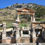 Traian Fountain Ephesus — Stock Photo