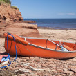 Seaside Canoe — Stock Photo