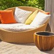 Stock Photo: Wicker Garden Furniture