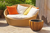 Wicker Garden Furniture — Stock Photo