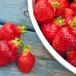 Stock Photo: Farm Fresh Strawberries