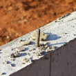 Rebar and founation — Stockfoto