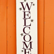 Folksy Welcome Sign — Stock Photo