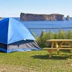 Perce Rock Camping — Stock Photo