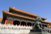 The gate of Supreme Harmony in the Forbidden City — Stock Photo