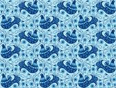 Fondo transparente azul con aves — Vector de stock