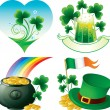 Saint Patrick's day icons - Stock Vector
