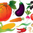 Vegetable set - Imagen vectorial