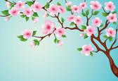 桃花树 — 图库矢量图片