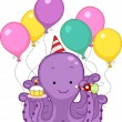Octopus Birthday Party — Stock Photo #10117916