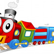 Toy Train Mascot — Stock Photo