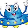 Spaceship Mascot - Stock Photo