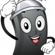 Royalty-Free Stock Photo: Spray Paint Mascot
