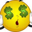 Money-crazed Smiley - Stock Photo