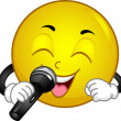 Singing Smiley - Stockfoto