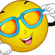 Sunglasses Smiley — Stock Photo