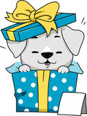 Dog Gift — Stock Photo