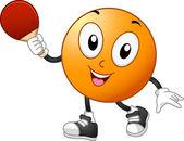 Mascotte de tennis de table — Photo