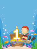 Underwater Birthday — Stock Photo