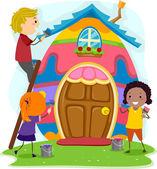 Easter Egg House — Stock Photo