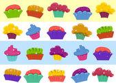 Cupcake Border — Stock Photo