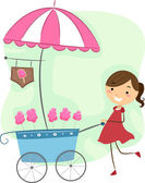 Cotton Candy Cart — Stock Photo