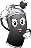 Spray Paint Mascot — Stock Photo
