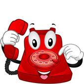 Telephone Mascot — Stock Photo
