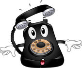 Telephone Mascot — Stock Photo