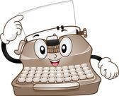 Typewriter Mascot — Stock Photo