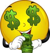 Money-loving Smiley — Stock Photo