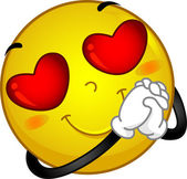 Veselý obličej v lásce — Stock fotografie
