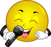 Singing Smiley — Stock Photo