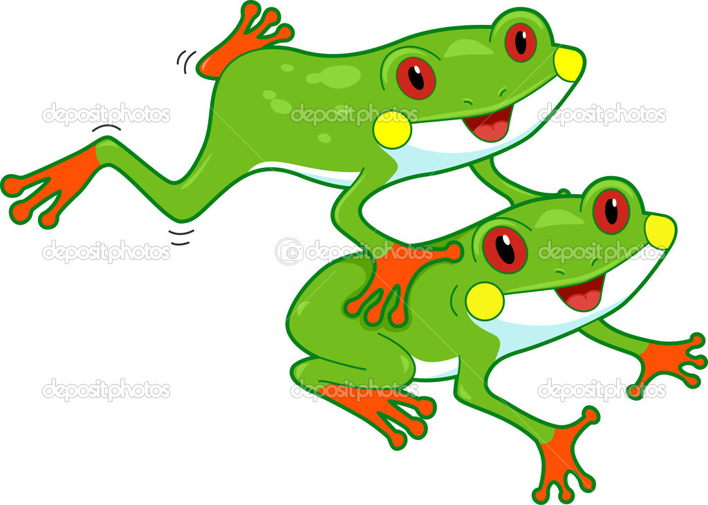 Cartoon rainforest frog for Frog consulting