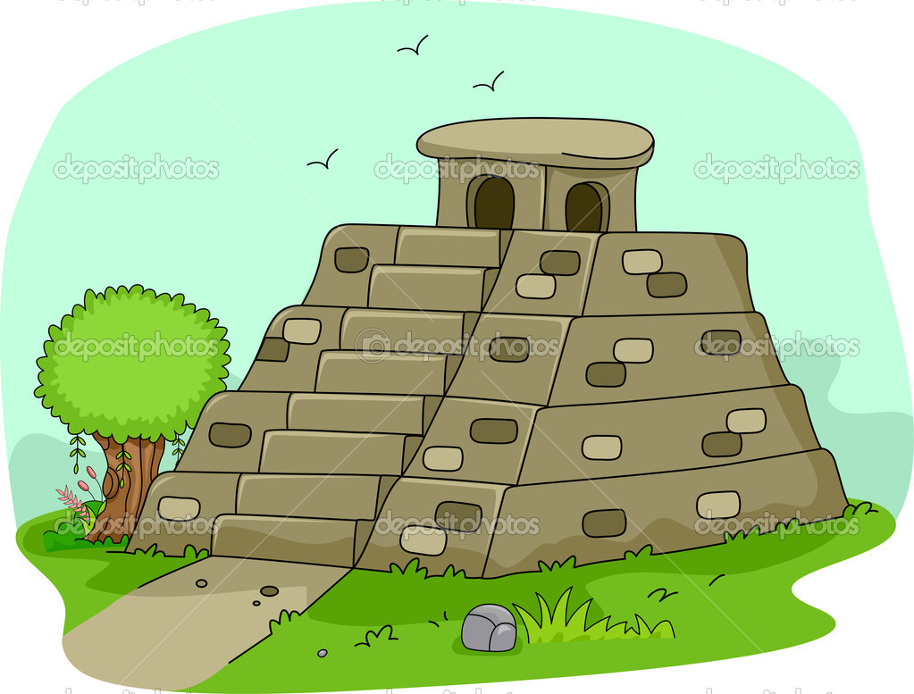 Illustration of a Mayan Pyramid — Stock Photo #10117968