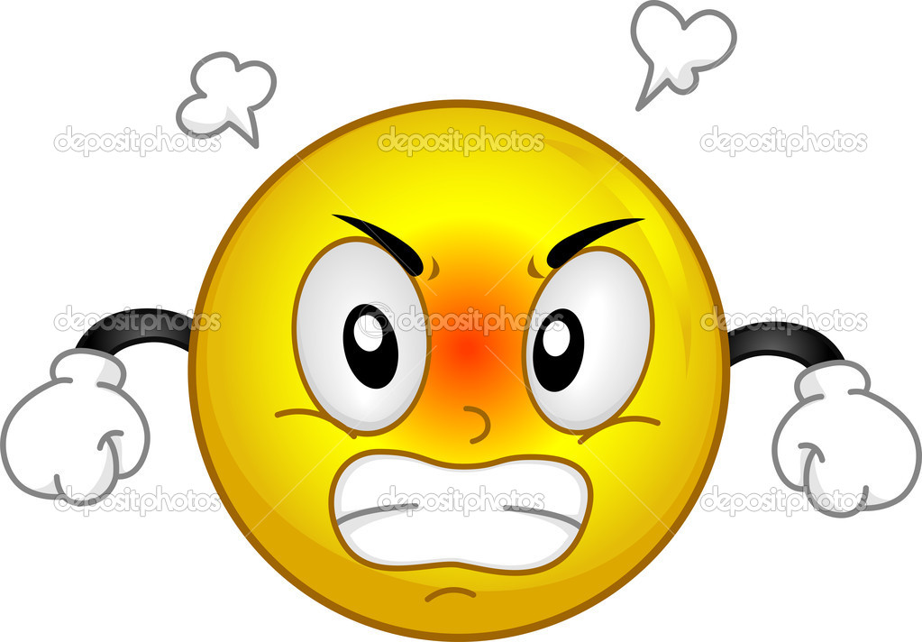 Illustration of a Smiley Fuming in Anger — Stock Photo #10118076