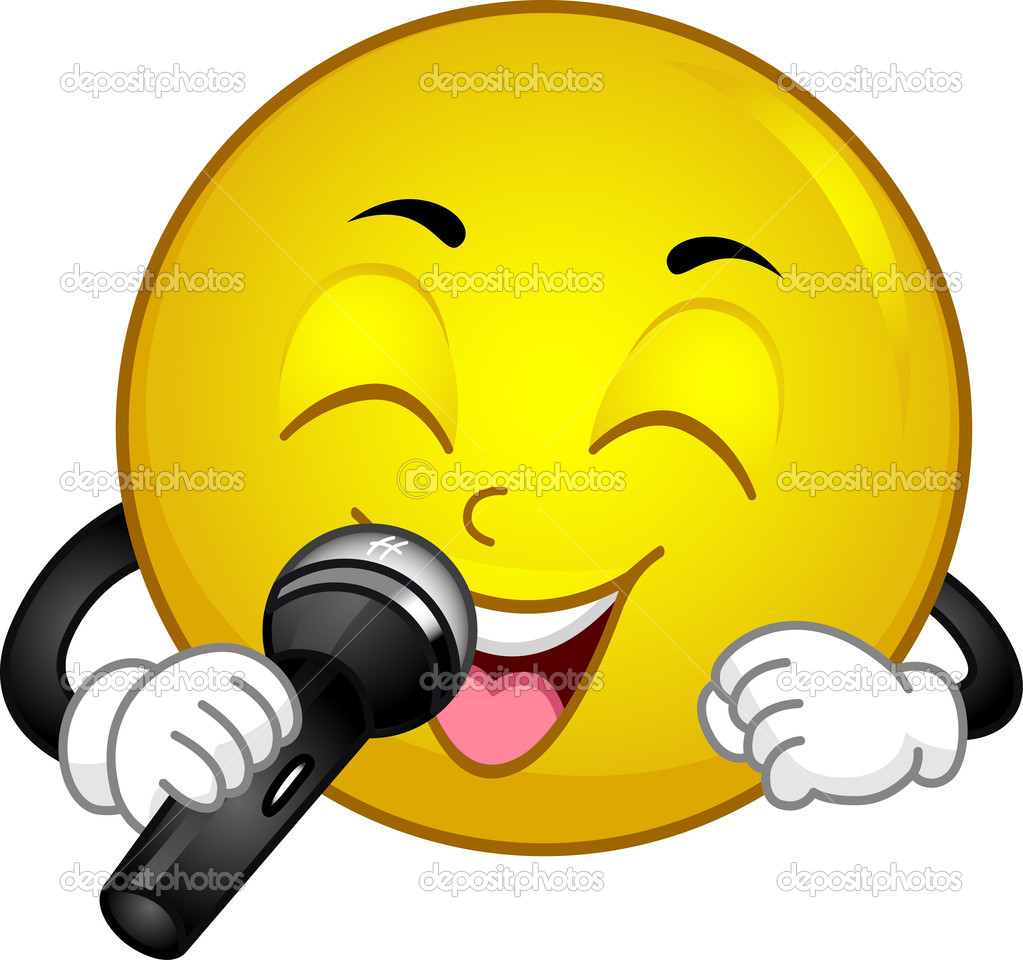Illustration of a Singing Smiley — Stock Photo #10118098