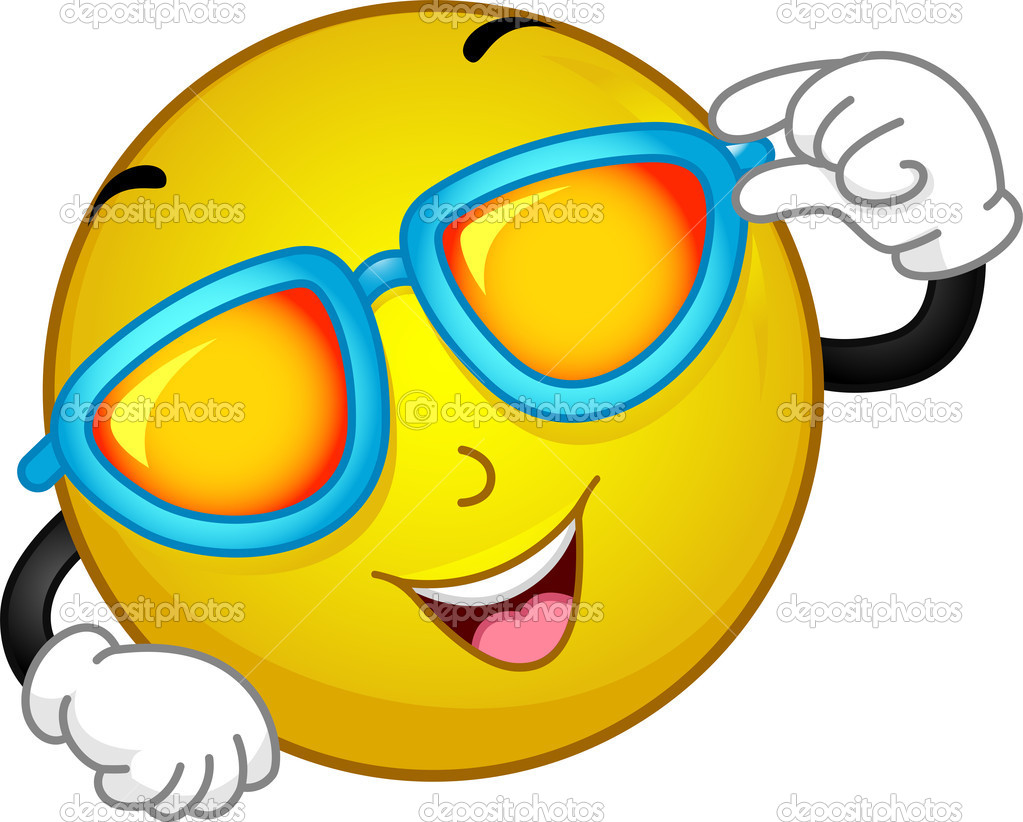 Sunglasses Smiley — Stock Photo © lenmdp #10118099 Wow Face Clip Art