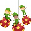 Christmas Elves - Stockfoto
