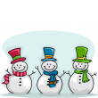 Stock Photo: Snowmen