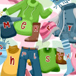 Stock Photo: Christmas Greetings Clothes