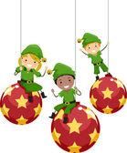 Christmas Elves — Stock Photo