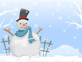Snowman Background — Stock Photo