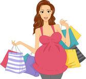 Pregnant Shopper — Stock Photo