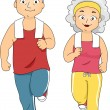 Stock Photo: Jogging Couple
